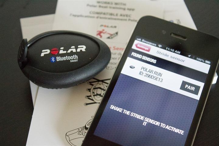 Polar Beat App Footpod Pairing Step 1