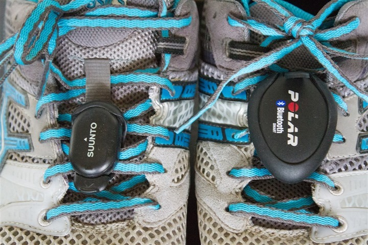 Polar Bluetooth Smart Footpod Size Comparison ANT+