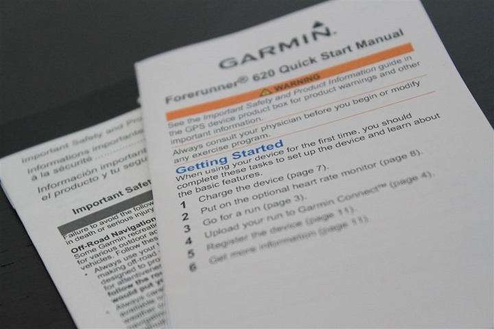 Garmin FR620 Instructions