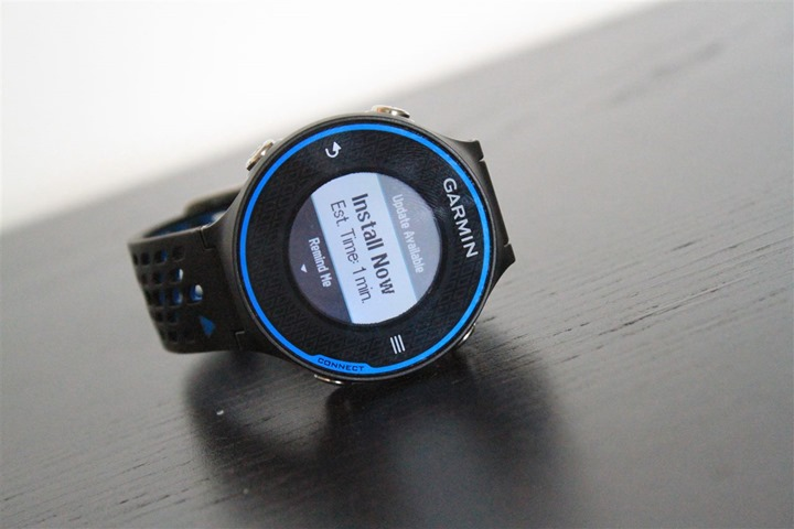 Garmin FR620 Firmware Updating