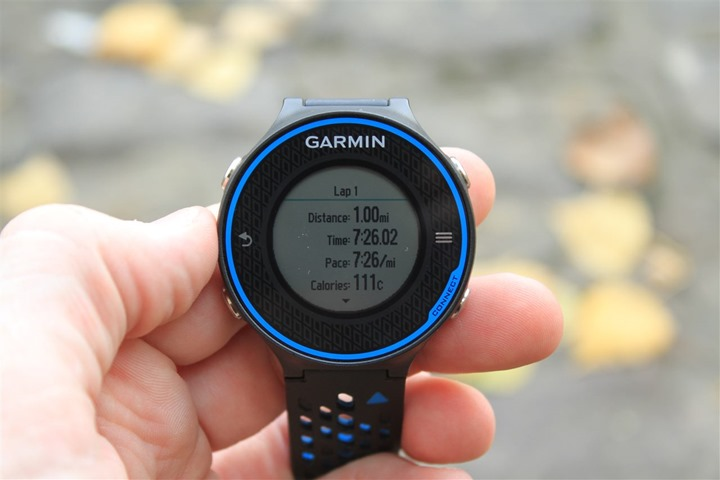 Garmin FR620 Lap Summary