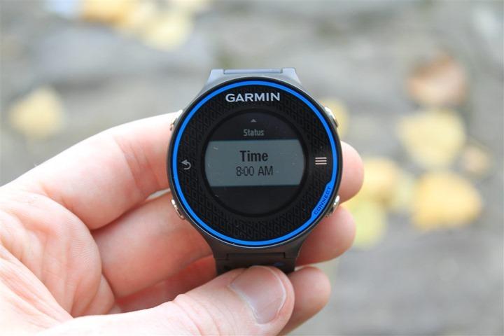 Garmin FR620 Time Alerts