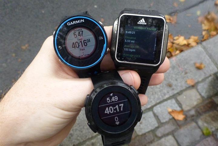 Garmin FR620 Accuracy Comparison
