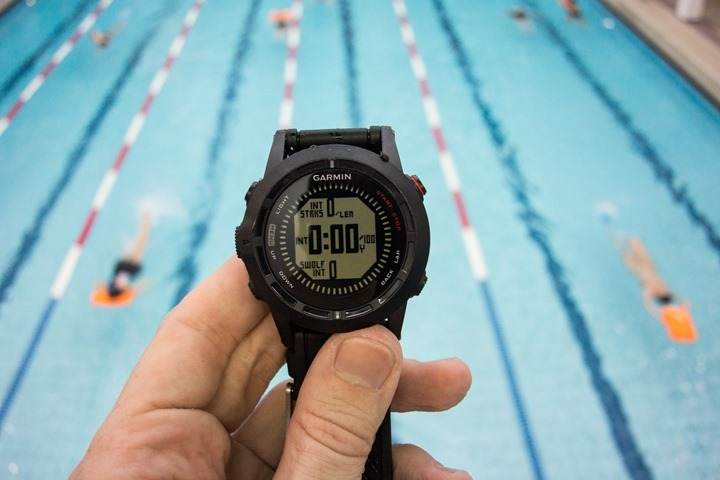 Garmin Fenix2 Pool Swimming Data Fields