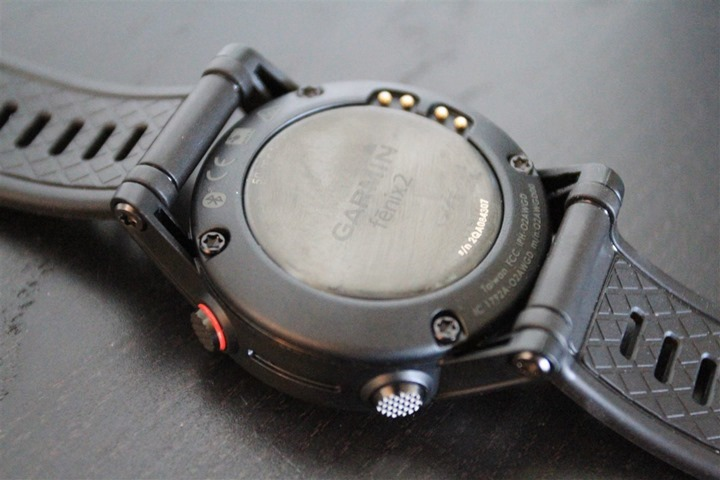 Garmin Fenix2 Back of unit