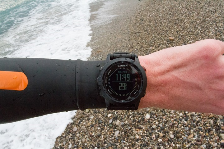 Garmin Fenix2 Openwater Finish Swim