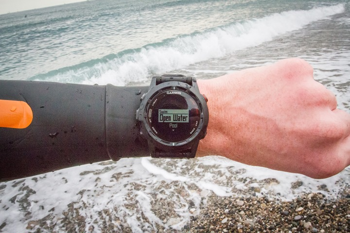 Garmin Fenix2 Openwater Start Swim