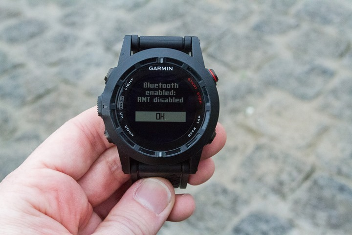 Garmin Fenix2 iPhone Pairing Bluetooth ANT+