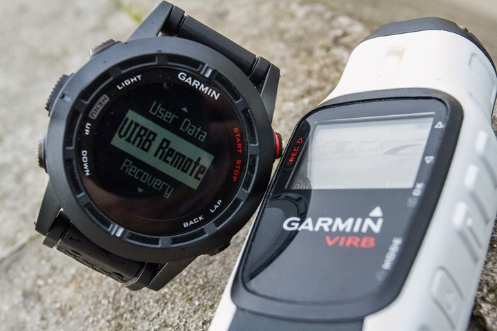 Garmin Fenix2 VIRB Action Camera Control