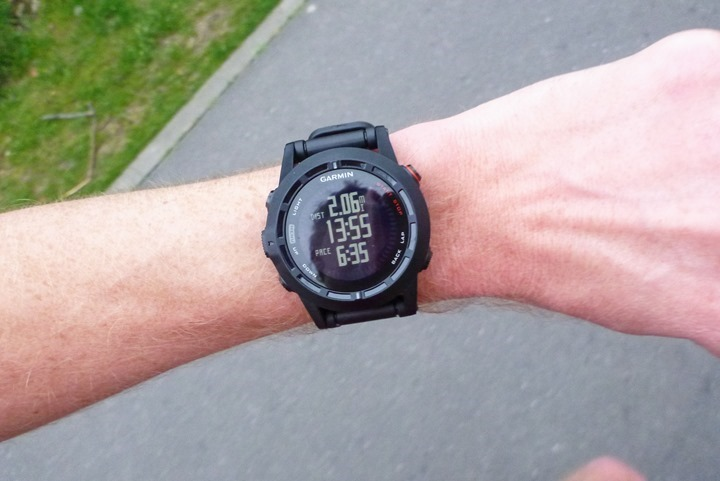 Garmin Fenix2 Running Mid-Run