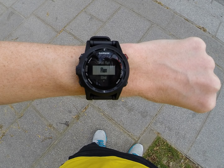 Garmin Fenix2 Run Start