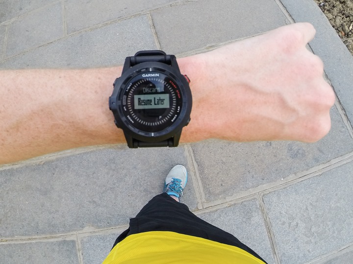 Garmin Fenix2 Resume Later