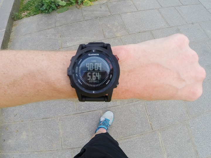 Garmin Fenix2 while running with total fields
