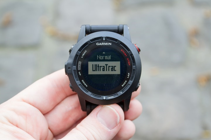 Garmin Fenix2 UltraTrac options