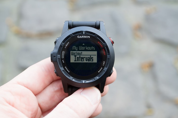 Garmin Fenix2 Interval Mode