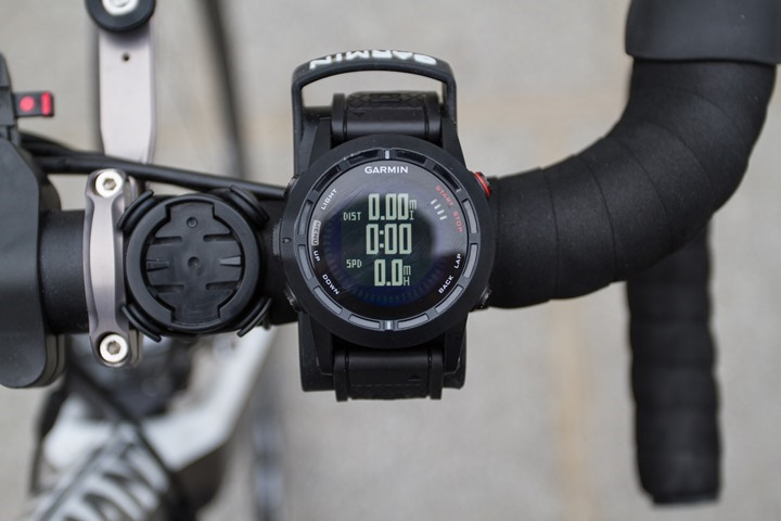 Garmin Fenix2 Cycling Data Field Options