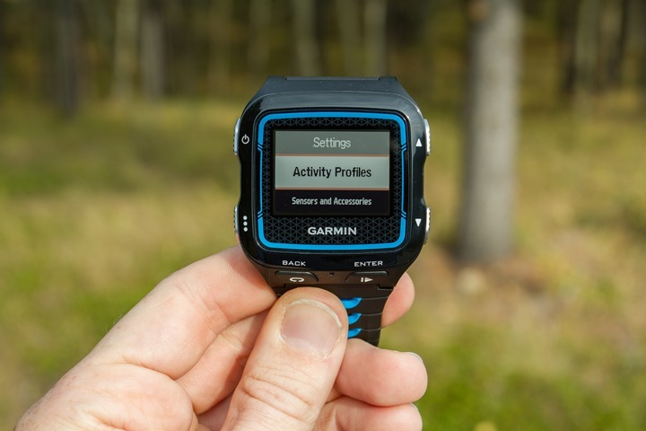 Garmin FR920XT - Activity Profiles