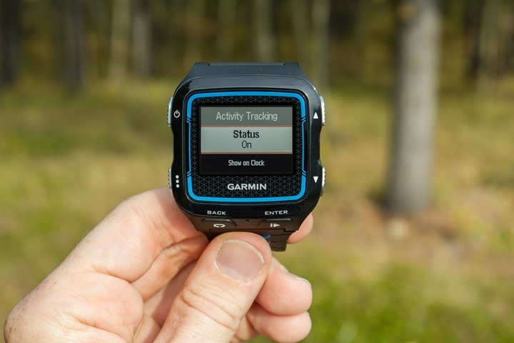 Garmin FR920XT - Activity Tracking Enablement