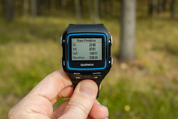 Garmin FR920XT - Race Predictor