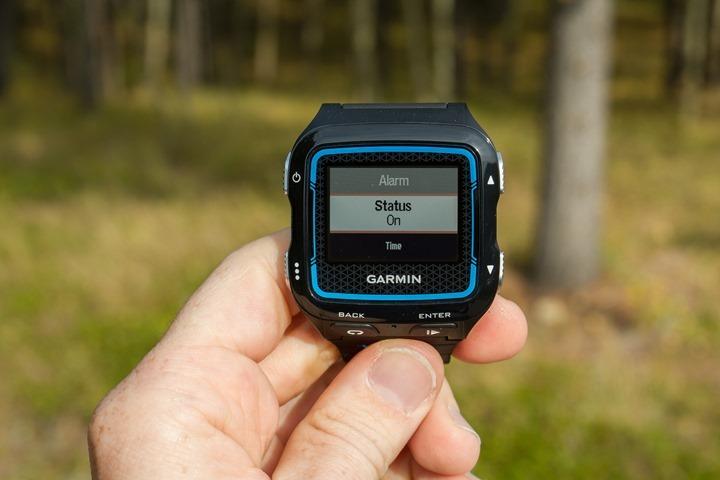 Garmin FR920XT - Alarm Clock