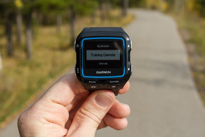 Garmin FR920XT - Training Calendar