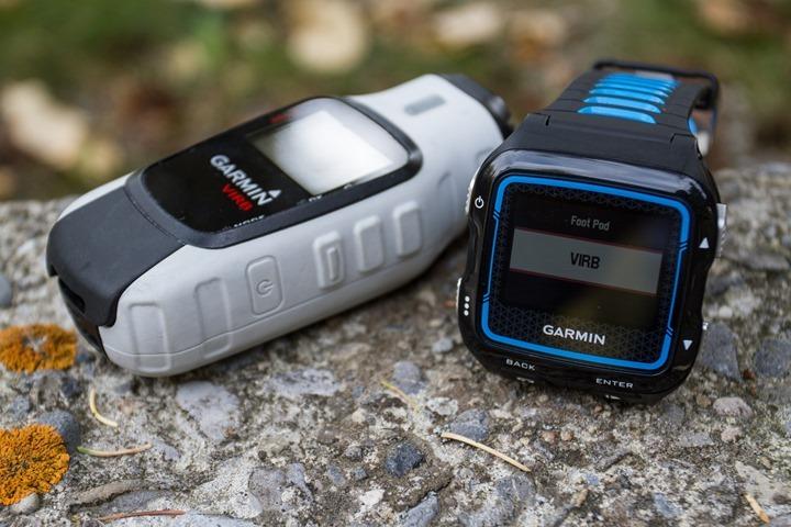 Garmin FR920XT - VIRB Control