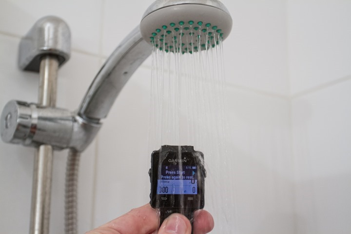 Garmin-Waterproofing-Shower