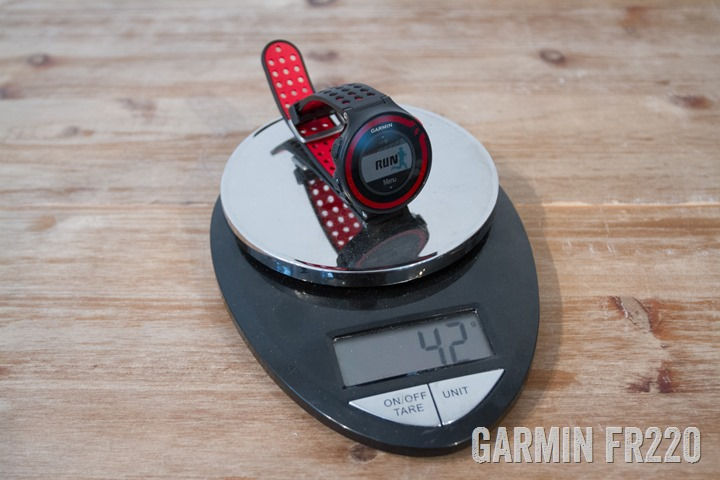 Garmin-FR220-Weight