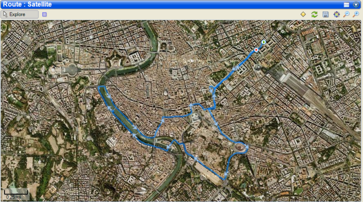 Sport Tracks route view in Rome