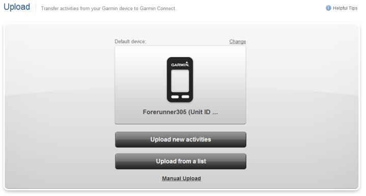 Garmin Connect Upload 305