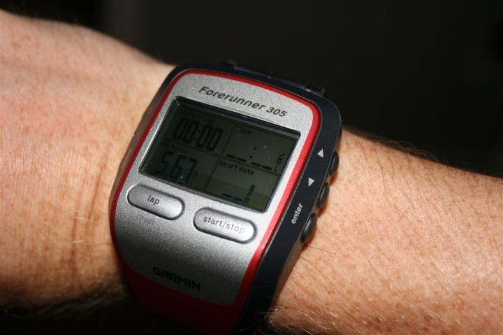 Garmin 305 on wrist