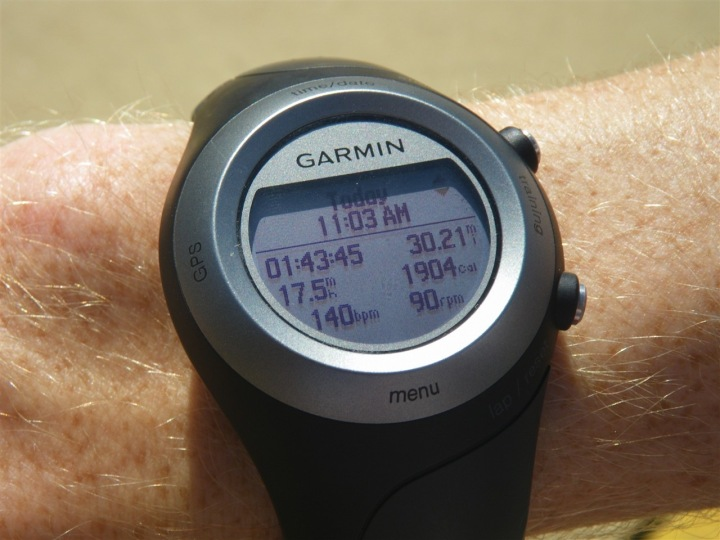 Garmin 405 Activity Overview