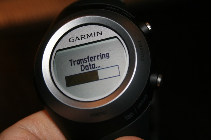 Garmin 405 ANT+ Transferring Data