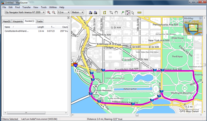 Garmin Edge 705 Routing