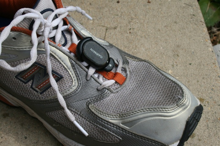 Garmin New Style Footpod Clipped on Shoe