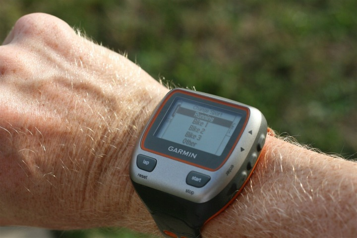 Garmin 310XT Switching Sports
