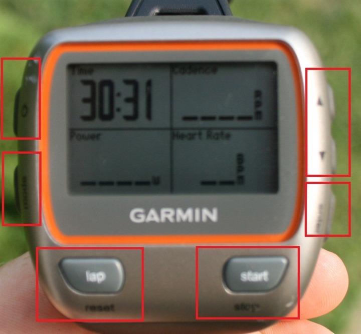 Garmin 310XT Buttons