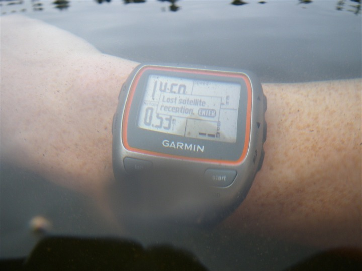 Garmin 310XT lost satellite in water