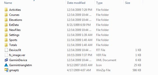Edge 500 Folder Structure