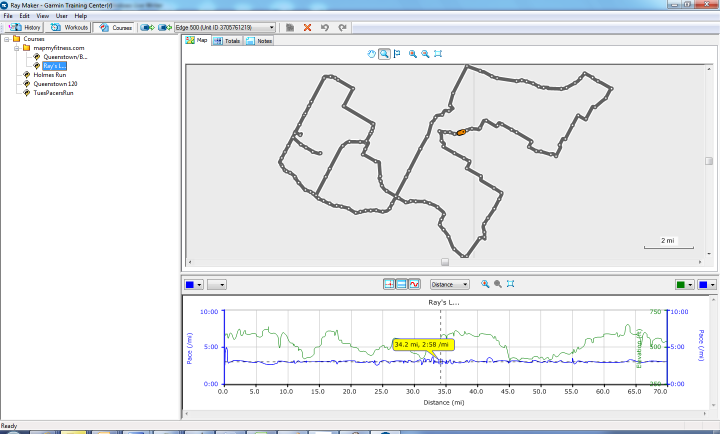Edge 500 Garmin Training Center Post-Ride Mapping