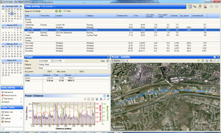 Edge 500 data imported into Sport Tracks