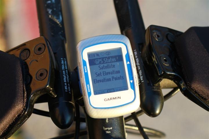 Edge 500 GPS Status