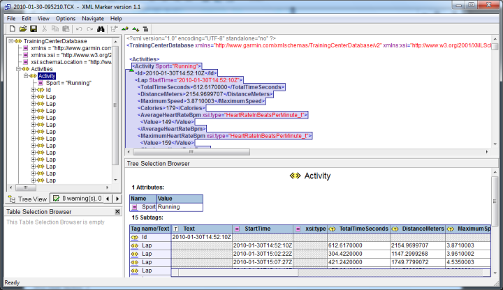 FR-60 XML Marker View
