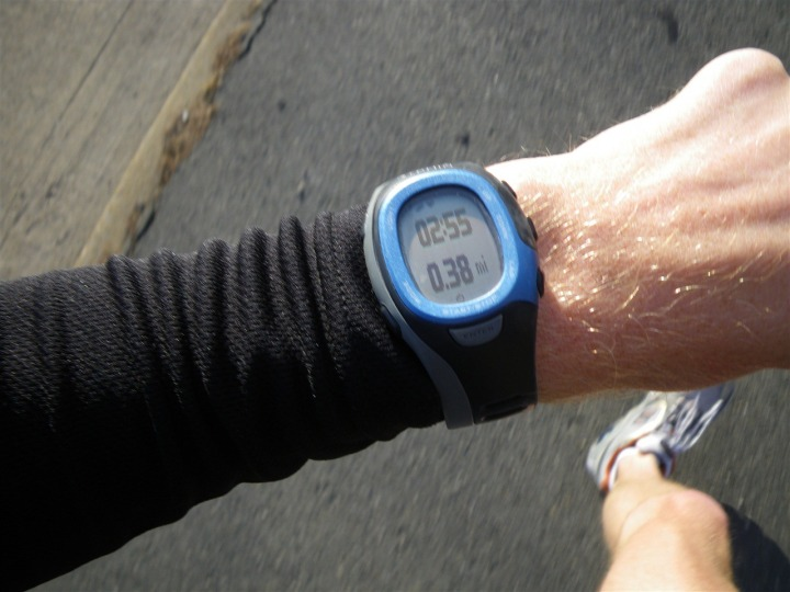 Garmin FR-60 while running
