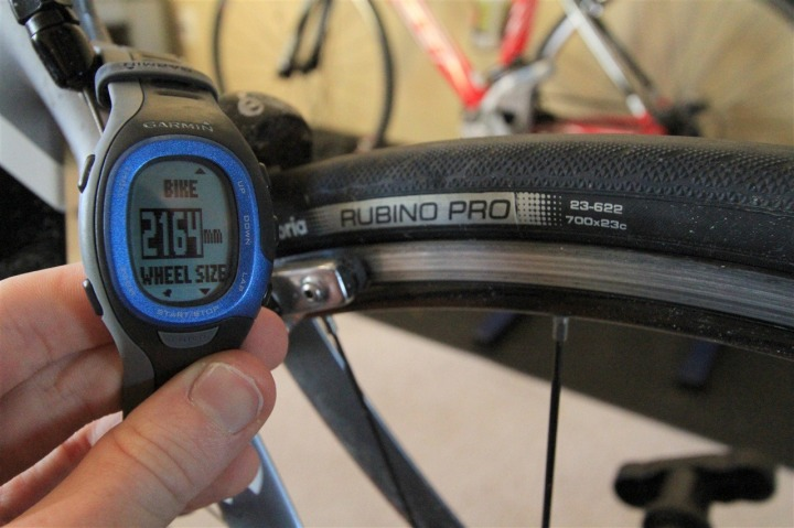 FR-60 Bike Wheel Size Calibration