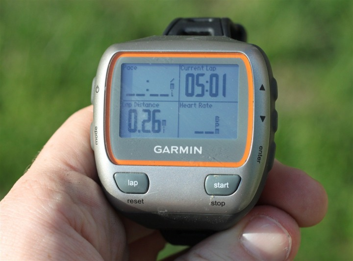 Garmin 310XT - My primary data fields