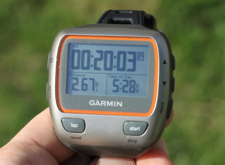 Garmin 310XT Ancillary Screen