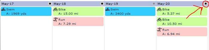 Training Peaks Calendar