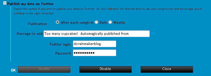 Detailed Configuration of Twitter Settings