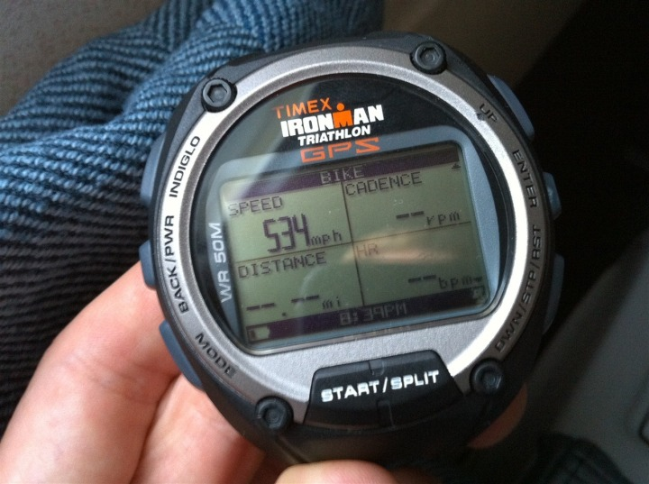 Timex Global Trainer speed while in flight